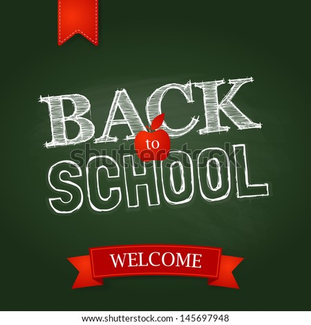 back to school poster with text
