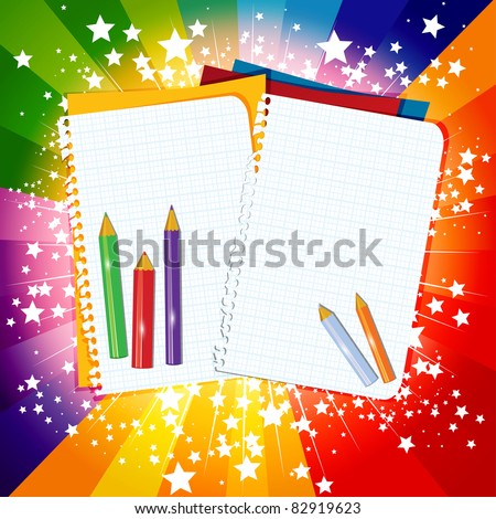 Back to School rainbow background, eps10 vector illustration