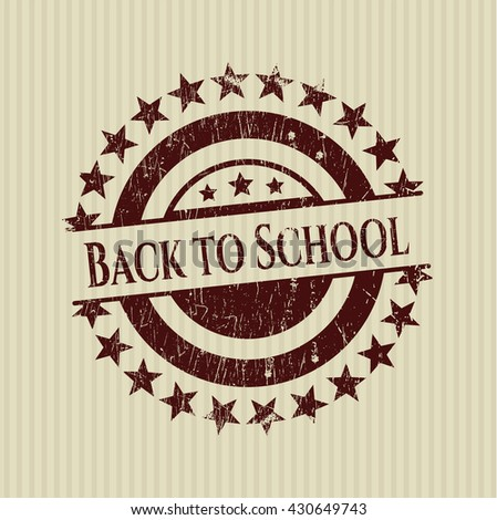 Back to School rubber grunge stamp