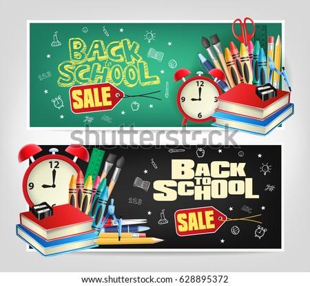 back to school sale die cut