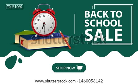 back to school sale  red banner