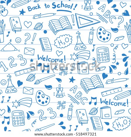back to school seamless vector