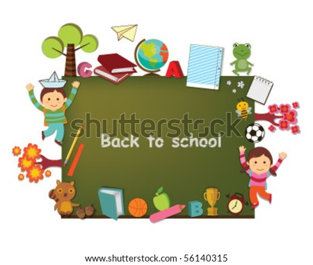 back to school template design