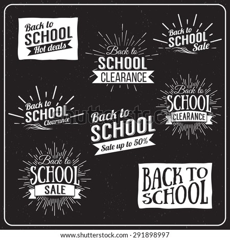 Back to School Typographic - Vintage Style Back to School Hot Deals Design Layout In Vector Format