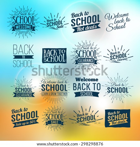 Back to School Typographic - Vintage Style Back to School Hot Deals Design Layout In Vector Format - stock vector