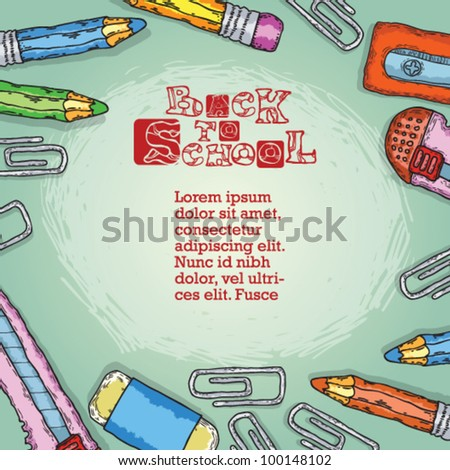 back to school vector background. school subjects