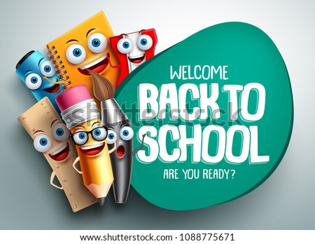 back to school vector banner