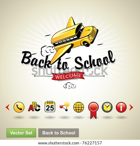 Back to school. Vector set