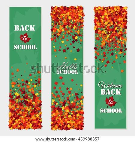 back to school vertical banner