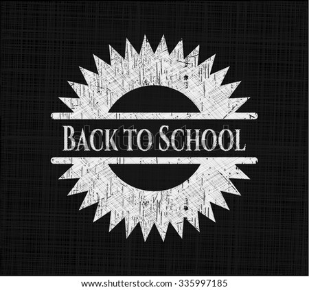Back to School with chalkboard texture