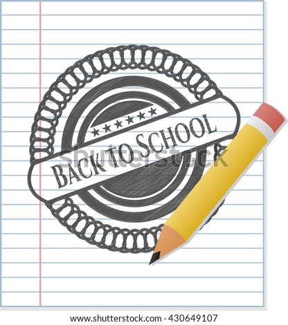 Back to School with pencil strokes