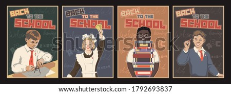 back to the school poster set
