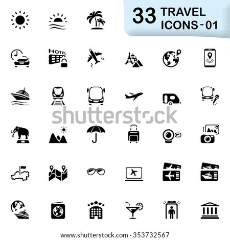 back travel icons