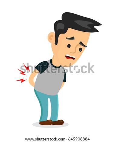 backache problemsvector flat