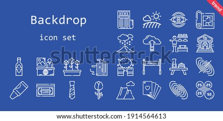 backdrop icon set line icon