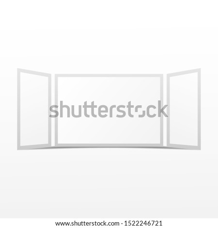 Backdrop mockup vector. Backdrop mockup isolate on white background.