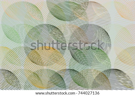 Background abstract geometric messy random line circles pattern for design. Vector illustration graphic. #744027136