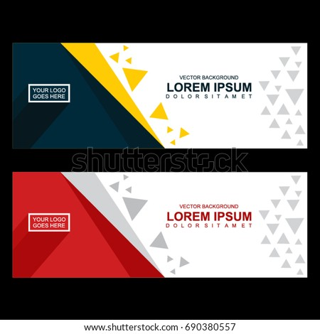 Background  and Banner Template #690380557