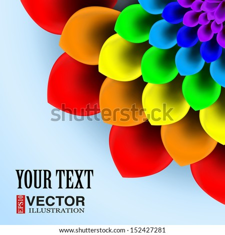 Background beautiful bloomed flower. Vector illustration, EPS10, editable and isolation