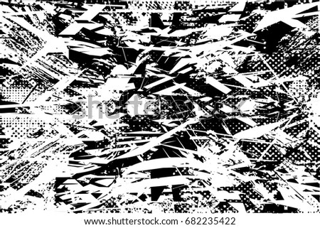 Background black and white  abstract  texture vector illustration with  dark spots,dots, scratches and lines