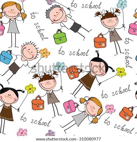 background cheerful children