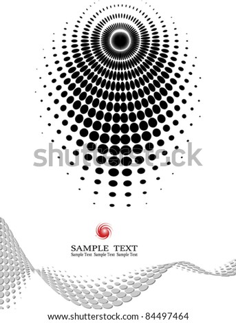 background composition, Web template (halftone)
