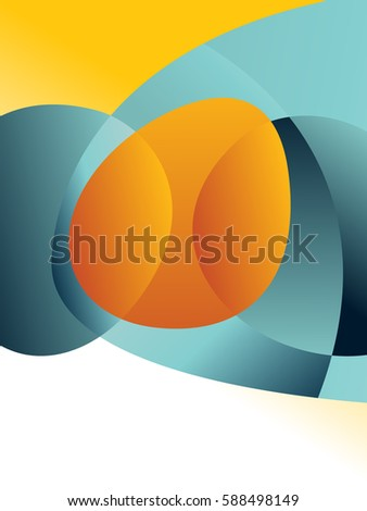 Stock Photo Background concept design for brochure or flyer, abstract vector illustration. Circle with wawes