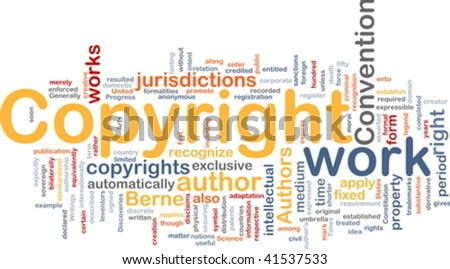 Background concept illustration of author copyright convention