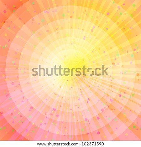 Background design, abstract bright orange and yellow magic backdrop. Vector eps10, contains transparencies
