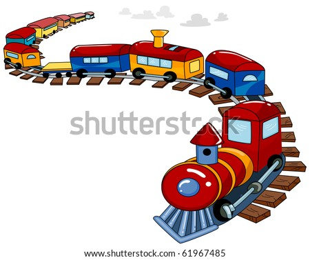 Background Design Featuring a Toy Train - Vector