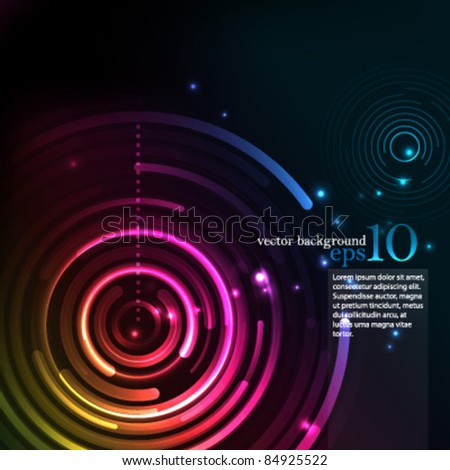 Background- Eps10 Vector Circles Illustration