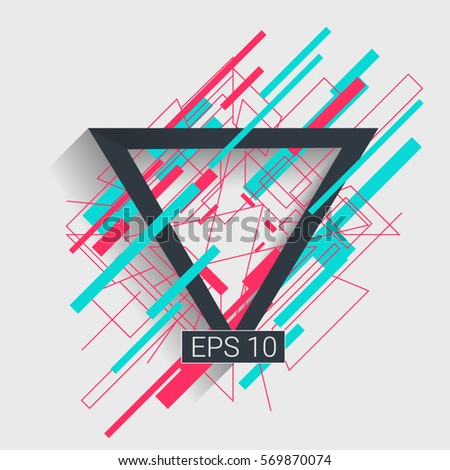 background Flat  Design (for Logos, Flyers, Covers, Posters, Banner) Vector illustration. #569870074