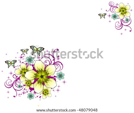 background flower illustration - stock vector