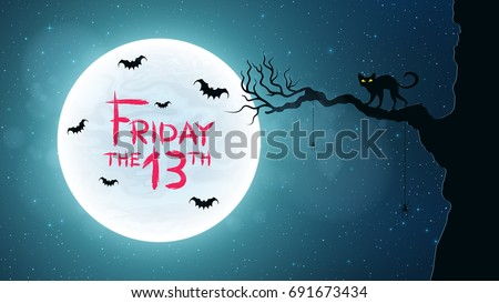 background for friday 13 black
