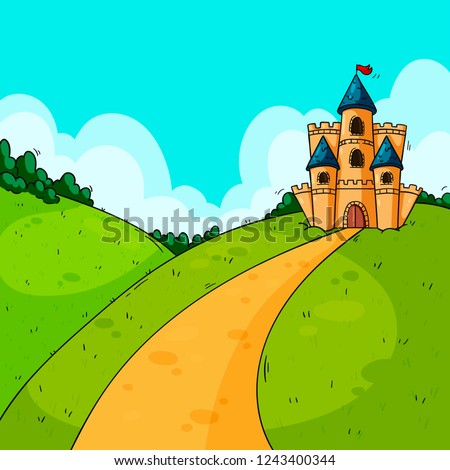 Background for game design. Castle. #1243400344