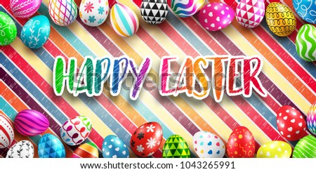 background for happy easter day