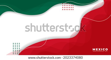 Background for Mexico Independence day with green, white and red abstract design. Good template for Mexico Independence day or national day design.