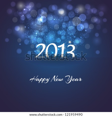 Background for new year 2013