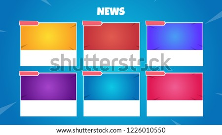 Stock Photo Background for news or social media inspired in a video game.