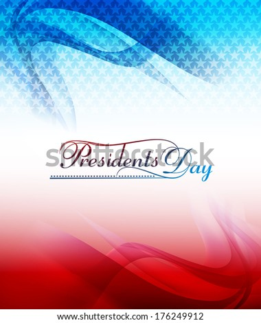 Background for President Day in United States of America with flag wave colorful design illustration