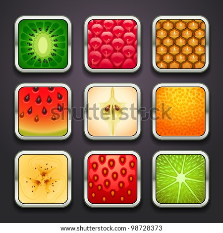 background for the app icons-fruits part