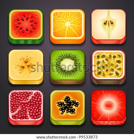 background for the app icons-fruits part-2