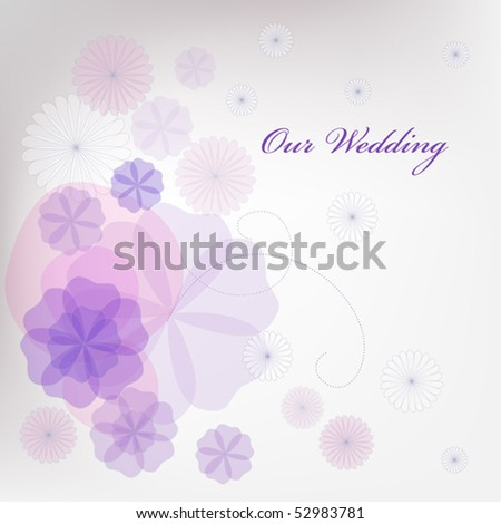 stock vector background for wedding invitations