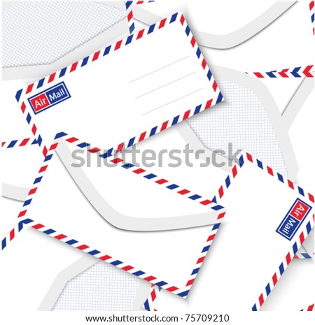 Background from airmail envelopes