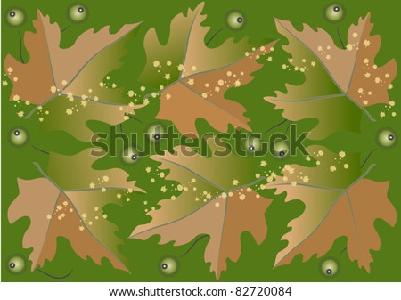 Background from autumn leaves and fruits.Background.Wallpaper