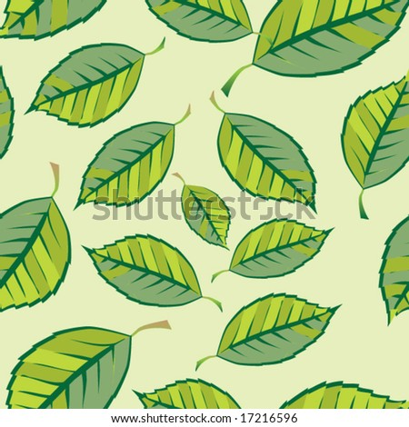 Background from leaves. Seamless pattern. Vector. #17216596