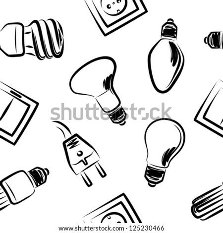 Power Plug Drawing Light Bulb Power Plug