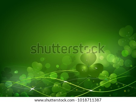 Background from the leaves of the clover to St. Patrick's Day. Vector illustration