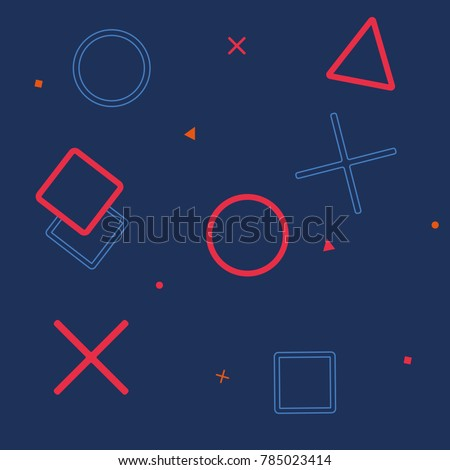 background gaming vector icon