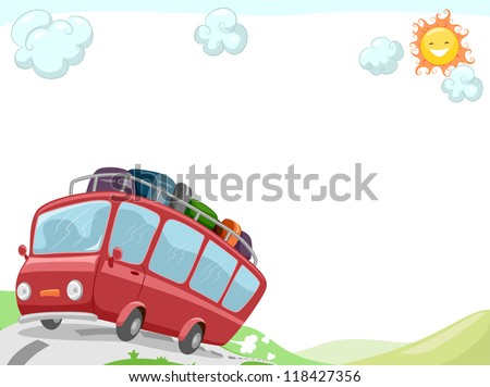 Background Illustration Featuring a Tour Bus